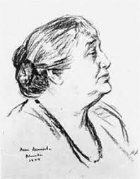 Анна Андреевна Ахматова, рис. М. Лянглебена (1964)
