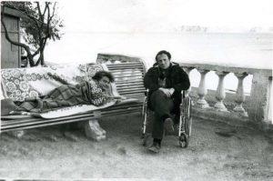 Лев Друскин с Иосифом Бродским. Фото И.А. Бродского, 1969