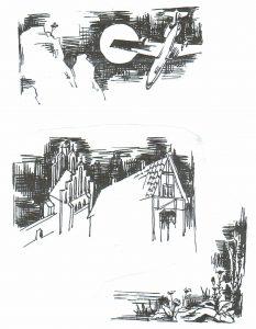 Рисунки Р. Ручкина к «Спасённой книге»