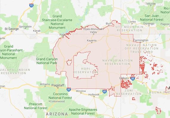 Территория, заселенная индейцами племени навахо (Navajo Land)