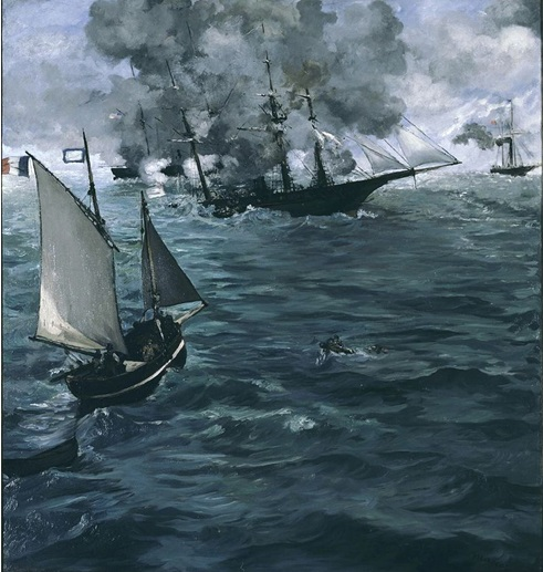 Édouard Manet. The Battle of the Kearsarge and the Alabama (1864)