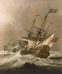 Ван де Вельде Младший. Корабль в шторм