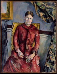 «Мадам Сезанн в красном платье» Сезанн, 1888-1890 г.; Музей Метрополитен, Нью-Йорк