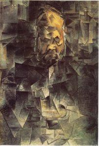 «Портрет Амбруаза Воллара» Пикассо, 1910 г.; Музей изобразительных искусств им. Пушкина, Москва