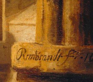 Подпись Рембрандта