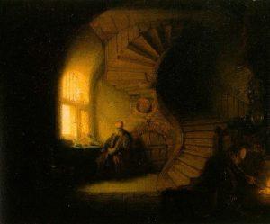 Размышляющий Философ, 1632, Музей Лувр, Париж