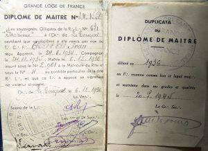 Французский масонский диплом 1945 года, Великая Ложа Франции