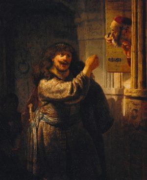 Рембрандт, Самсон угрожает своему тестю, 1635, Гемальдегалери, Государственные музеи Берлина