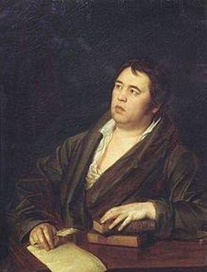 Иван Андреевич Крылов (1769-1844), портрет работы Р. Волкова, 1812