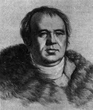 И.А. Крылов, литография Г. Гиппиуса, 1822