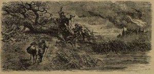 Г. Доре, гравюра к басне Лафонтена «Дуб и тростник»