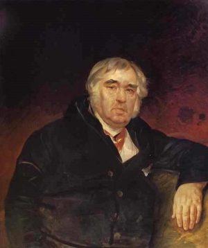 И.А. Крылов, портрет работы К. Брюллова, 1839