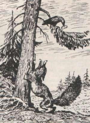 «Ворона и лисица», рис. А Лаптева