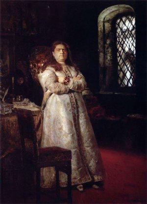 И. Репин. Царевна Софья в монастыре.