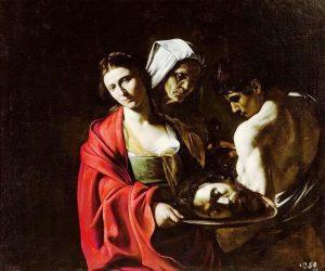 «Саломея с головой Иоанна крестителя» Караваджо, 1609г.; Королевский дворец, Мадрид