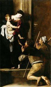 «Мадонна ди Лорето» Караваджо, 1604–1606г.; церковь Святого Августина, Рим
