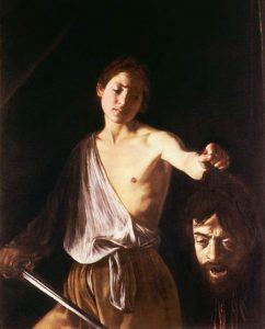 «Давид с головой Голиафа» Караваджо, 1609–1610г.; Галерея Боргезе, Рим