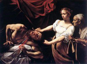 «Юдифь, обезглавливающая Олоферна» Караваджо, 1599г.; палаццо Барберини, Рим