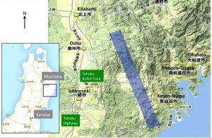 Рис.24. Расположение будущего ускорителя (Япония)