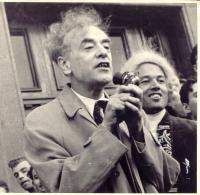 Академик Л.Д. Ландау на празднике «День Архимеда» (1961 г.)
