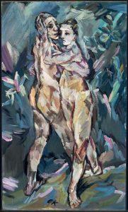 «Любовники» Кокошки, 1913г.; Музей изящных искусств, Бостон