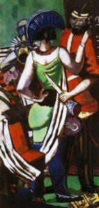 «Парижский карнавал» Бекмана, 1930г.; Новая пинакотека, Мюнхен