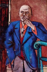 «Автопортрет в синем пиджаке» Бекмана, 1950г.; Музей Метрополитен, Нью-Йорк