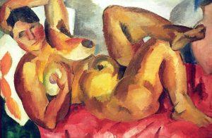 «Обнаженная. Крым» Фалька, 1916г.; Третьяковская галерея, Москва