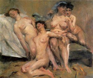 «Подружки» Коринта, 1904г.; Галерея новых мастеров, Дрезден
