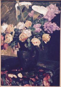 «Розы, сирень и каллы» Коринта, 1913г. Музей изобразительных искусств, Тель-Авив