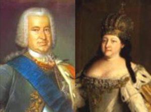 Эрнст Бирон и Анна Иоанновна