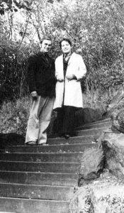 Нина и Гюнтер Крауссе в замке Кведлинбург в Гарце, Германия 5 октября 1975 года.Фото В. Сойфера. Публикуется впервые