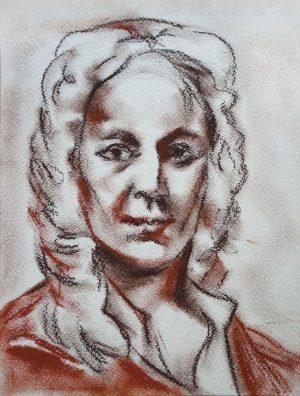 Илья Имазин. Портрет Антонио Вивальди. Б., пастель.