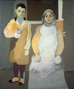 «Художник и его мать» Горки, 1926-1936г.; Музей американского искусства Уитни, Нью-Йорк