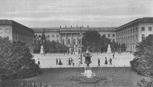 Унтер ден Линден. Вид Берлинского университета со стороны Немецкого оперного театра. Тургенев учился здесь с 1838 по 1841 год