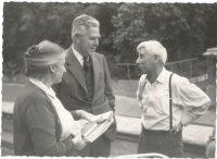Старые друзья: Дэвид Шенберг с женой и А.И. Шальников (1975 год)