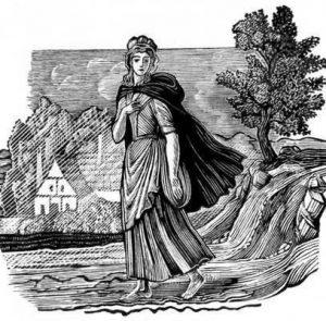 Босая девушка, гравюра В.А. Фаворского