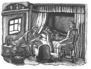 В.А. Фаворский. Иллюстрация к стихотворению Роберта Бёрнса «Робин»