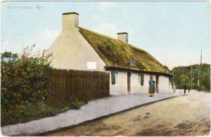 Дом, где родился Роберт Бёрнс, в деревне Аллоуэй, Эйршир, Шотландия