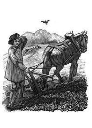 Иллюстрация В. Фаворского к стихам Роберта Бёрнса