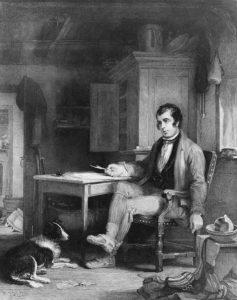 Молодой Роберт Бёрнс, гравюра Джона Бёрнета с рисунка сэра Уильяма Аллана