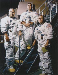 Экипаж Аполлона-8: Билл Андерс, Джим Ловелл, Фрэнк Борман