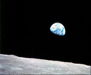 Фото Земли с орбиты Луны