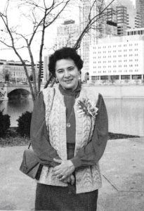 Нина в Коламбусе, 1 января 1989 года.
