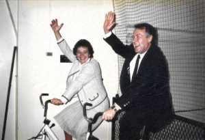 В фитнес-центре Kлуба Гарвардского университета в Нью-Йорке. 1989. Публикуется впервые