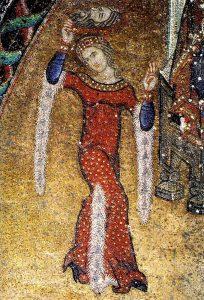 """<span style=""""color: #000000;"""">Танец Саломеи, фрагмент мозаики. Собор Св. Марка</span>"""