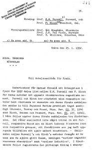 Документ из Центра истории науки (Стокгольм)