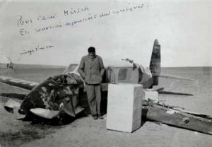Сент-Экзюпери после аварии самолета в ливийской пустыне