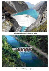 Рис.5. Плотины гидростанций Цзиньпин 1 и Цзиньпин 2 (с высоты птичьего полета). https://web.archive.org/web/20131217211018/http://www.chincold.org.cn/news/li080321-12-...