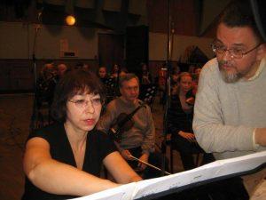 На записи Второго концерта для фортепьяно с оркестром М. Коллонтая. Фото Немудрова